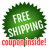 Free Shipping on this item! Coupon Code inside!