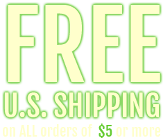 On First Class U.S. orders, get Free Shipping by entering the coupon code FREESHIP at checkout!